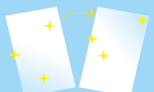 キラキラ光り輝く名刺やショップカード