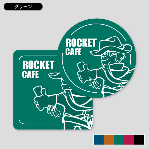 インパクトあるキャラ コースター 印刷のロケットプリント